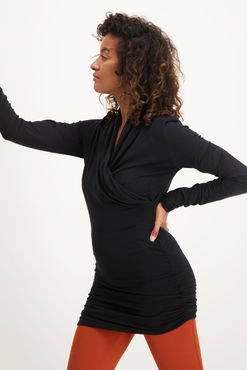 Urban Goddess Good Karma Longsleeve Tunic (Black)