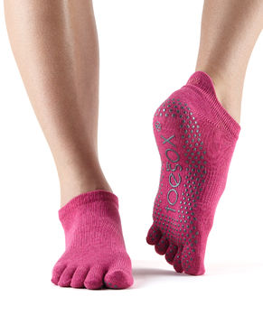 Toesox Low Rise Full Toe (Rasberry)