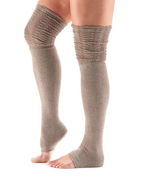 Toesox Sasha Leg Warmers Thigh High -Foxy