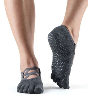 Toesox Elle Full Toe (Charcoal Grey)