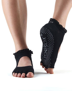 Toesox Half Toe Bella (Black Lace)
