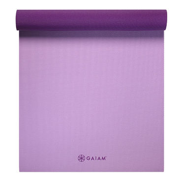 Gaiam 2 color Yoga Mat 6mm -Plum Jam